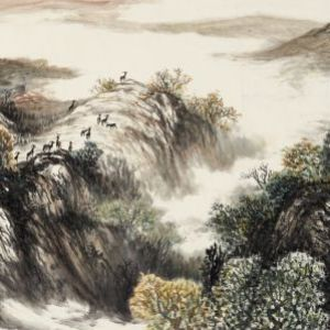《秋高地远图》