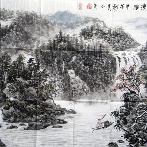 《秋江溪隐》