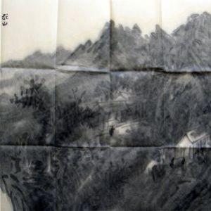《秋山归隐图》2012年作