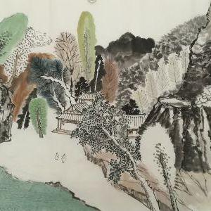 李建博国画山水之六