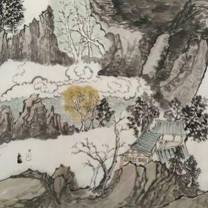 李建博国画山水之七
