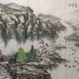 李建博作品《春风一阵山水秀》