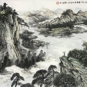 湖山静居图
