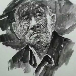 邵梦龙先生肖像画作品欣赏