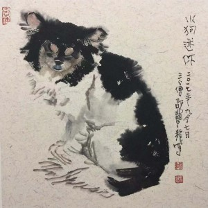 邵梦龙 画狗