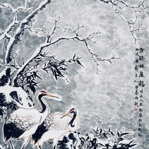 雪昼唯逢鹤